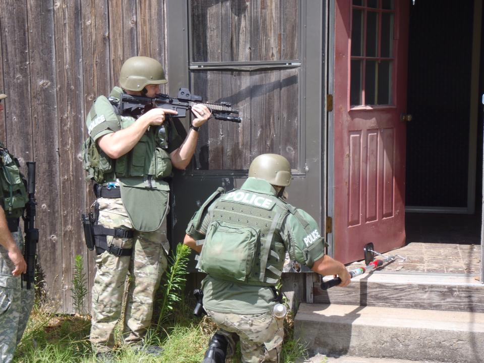 Swat Operators Training on building entry techniques