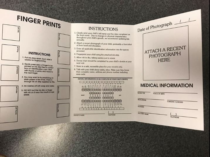 Inside Child Identification Packet
