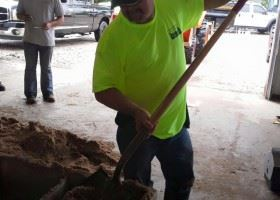 CERT Working Using a Shovel
