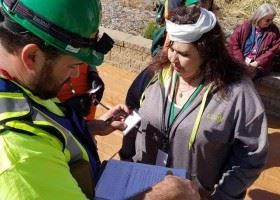 CERT Worker Helping Citizen