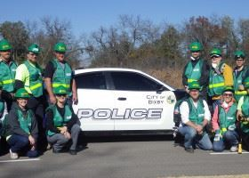 CERT Crew with Police Car