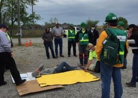 CERT Demonstrations with Man on Ground