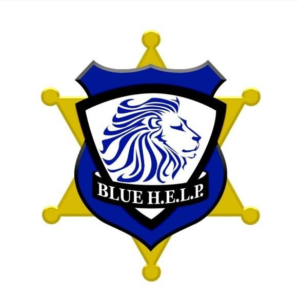 Blue H.E.L.P. (Honor. Educate. Lead. Prevent.) Logo